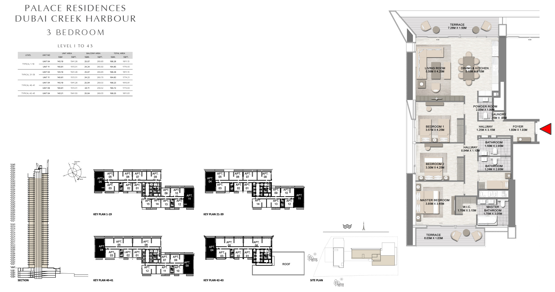 Floor Plan - Emaar Palace Residences By Address Hotels + Resorts